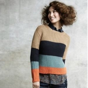 Anthropologie Sparrow Olaf Color-Blocked Sweater